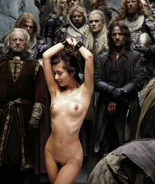 Lord of The Rings heroes share a captured nude slavegirl