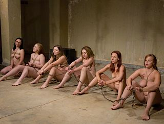 six slave girls coffled