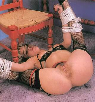slavegirl tied up and ready for fun and bondage sex