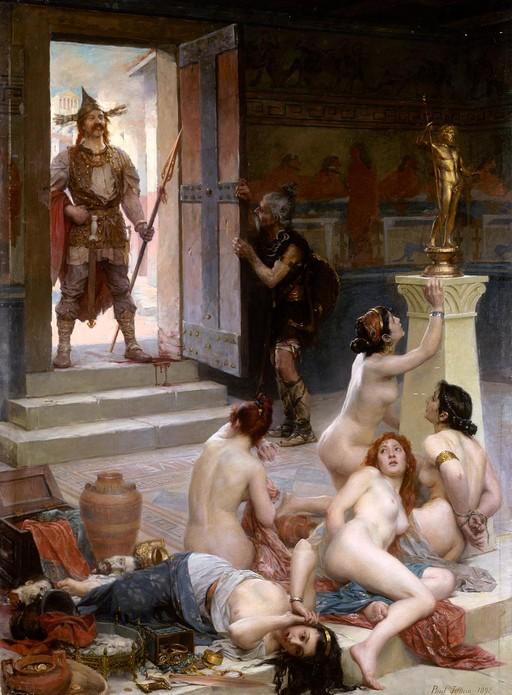 five naked slavegirls among the loot
