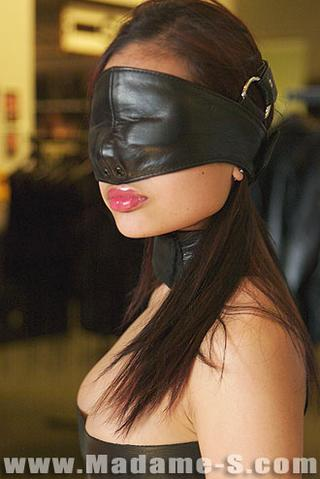 soft leather full-face blindfold
