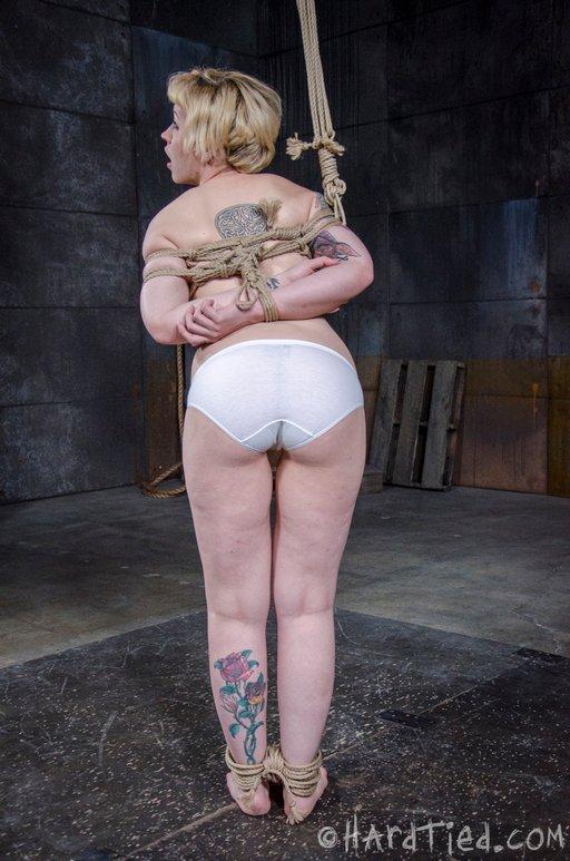 bondage in white panties