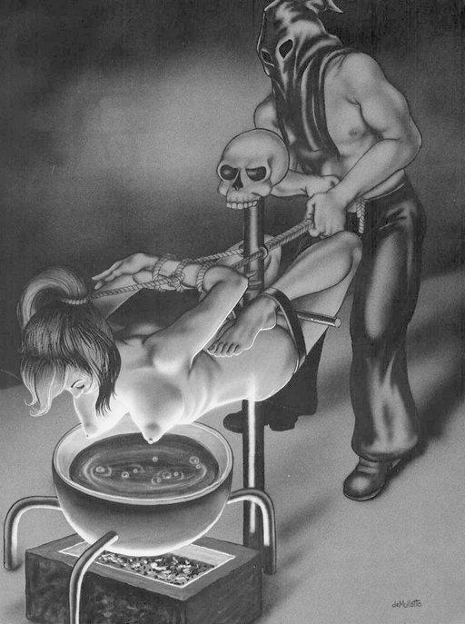 nipple-steaming bondage cult