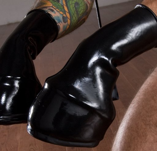 rubber pony hoof mitts