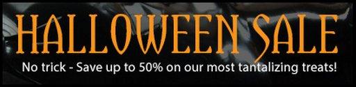 Halloween sale at the Stockrooom
