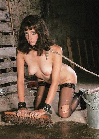 scrubbing slave girl