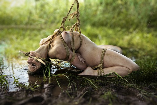 bound and gagged in a muddy swamp