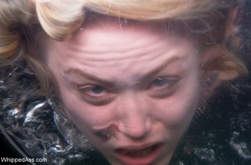 underwater shot of her face in the toilet while she gets a swirlie