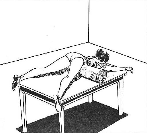bondage table in the spanking room