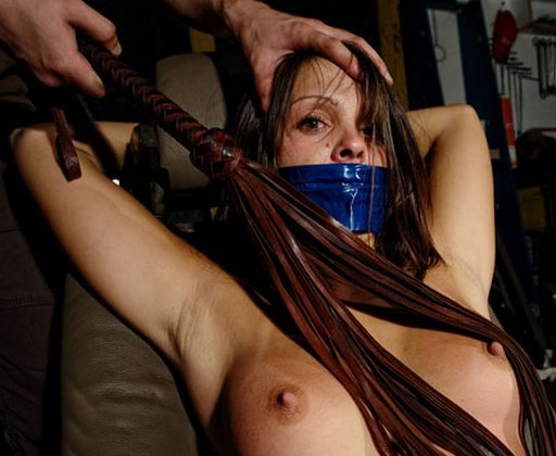 breast whipping for a gagged girl