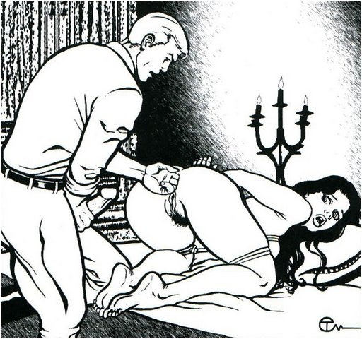 Brian Tarsis bondage anal artwork from Nazi Doublecross