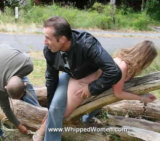 girl grabbed and tied for a whipping