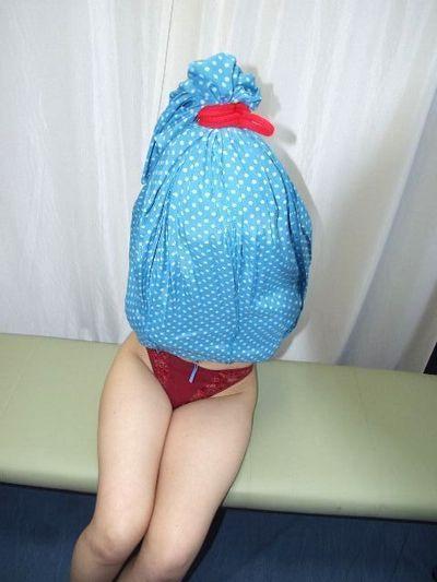 tied inside her dress