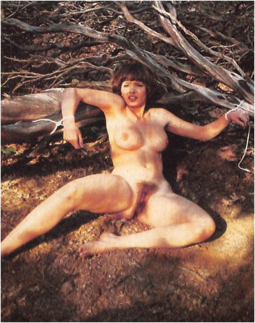 naked city girl stripped and tied to a log by rednecks