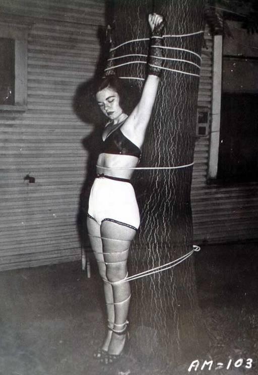 outdoor bondage in the dark