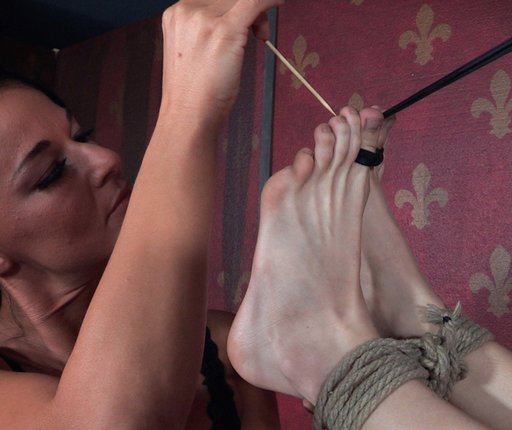 skewers under the toenails for an unfortunate bondage victim