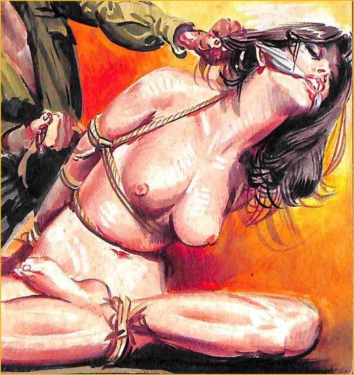 tied gagged woman