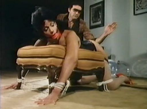 Vanessa del rio tied over an ottoman and spanked hard