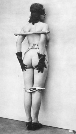 blindfolded in vintage bondage