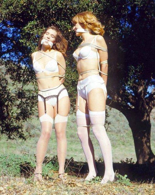 outdoor bondage two girls