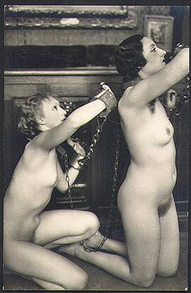 chained nude slave women