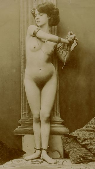 vintage slavegirl in shackles