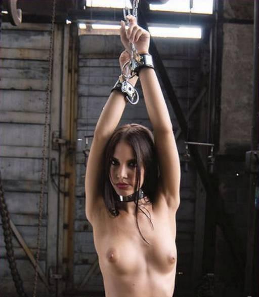 kinky girl is enjoying her bondage captivity
