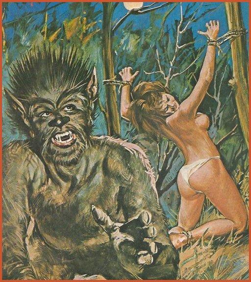 fumetti cover horror bondage monster sex
